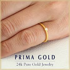 finger gold rings images Prima gold japan rakuten global market pure gold one diamond jpg