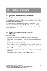 Personal Interest Resume Adding Skills To Resume Free Resume Example And Writing Download
