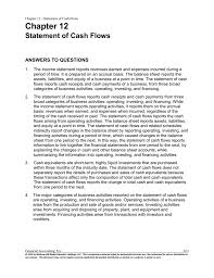 chapter 12 statement of cash flows answers to