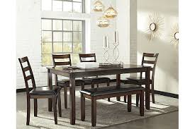 Dining Room Com by Coviar Dining Room Table And Chairs With Bench Set Of 6 Ashley