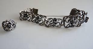 silver rose bracelet jewelry images Silver rose bracelet and rose ring by theodor klotz teka massive jpg