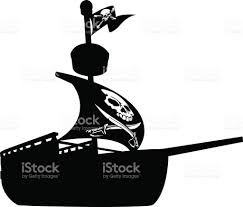 pirate ship silhouette stock vector art 610664512 istock