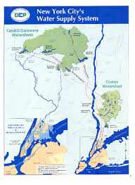 map of new york ny new york citys water supply system map new york ny mappery