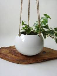 Hanging Ceramic Planter by Modern Black Planter Ceramic Hanging Planter Textured Ceramics