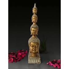 buddha statue size 26 5 cm x 6 cm golden
