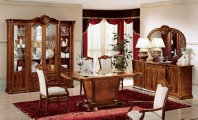 walnut lacquer finish classic dining room w mat inlaids