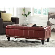Red Round Coffee Table - best ottoman appealing red round leather brown pertaining to