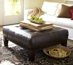 Ottoman With Shelf Surprising Square Leather Ottoman Picture Alternate View With