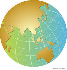Asia Pacific Map by Illustration Of Globe Asia