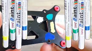 Blue Green Paint by Paint Marker Toyo Yellow Blue Green White Review And Test