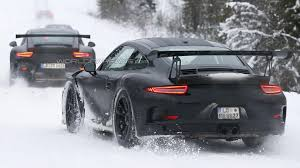 Porsche 911 In Snow - porsche 911 gt3 rs caught playing in the snow