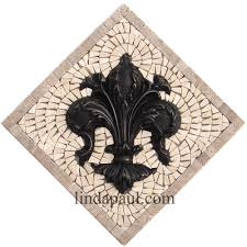 kitchen backsplash accent tile fleur de lis tile kitchen backsplash wall decor accent tiles