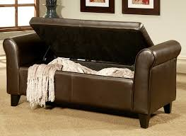 beautiful storage bench ottoman gdfstudio leather storage ottoman