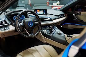 matte bmw of matte blue bmw i8 and i3 on lexani wheels