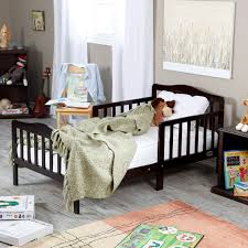 Bedroom Furniture Solid Wood Construction The Orbelle Contemporary Solid Wood Toddler Bed White Hayneedle