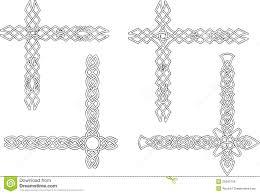 celtic decorative knot corners royalty free stock image image