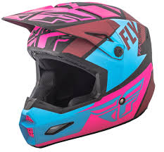 pink motocross helmets elite guild matte neon pink blue black helmet fly racing