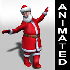 animated santa claus rigged animations 3d 3ds