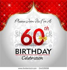60 years birthday card 60th birthday banque d images d images et d images vectorielles