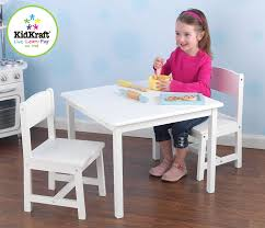 amazon com kidkraft aspen table and chair set white kitchen