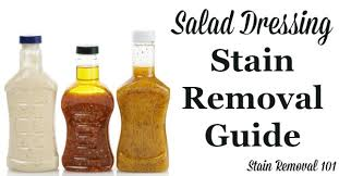 How To Remove Sauce Stains Sauce Upholstery And Salad Dressing Stain Removal Guide For Vinaigrette Varieties