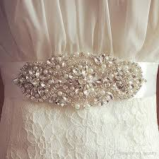 bridal sash 2017 bridal sash wedding princess rhinestone faux pearls belt girl