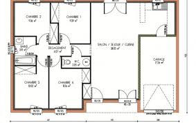 plan de maison en l avec 4 chambres plan et photos maison 4 chambres de 87 m