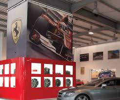 printed vinyl wall graphics bespoke wallpaper installation lime digitally printed ferrari wall graphics