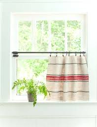 Curtain Rod Ideas Decor Burlap Cafe Curtains Cool Cafe Kitchen Curtains And Best Cafe