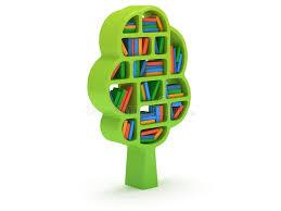 3d Bookshelf 3d Tree Of Knowledge Bookshelf On White Stock Illustration