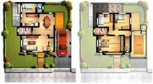 two storey residential floor plan 2 storey house floor plan with perspective archives