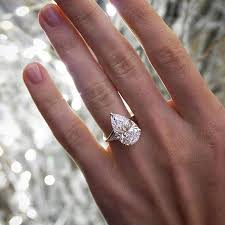 pear engagement ring 3 carat pear engagement rings rings