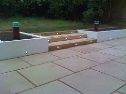 Patio Floor Lights by Lighting In Rendered Wall Outdoors Pinterest Stone Gardens
