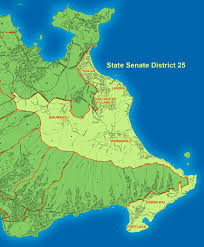 Hawaii lakes images Map of hawaii state senate district 25 laura thielen democrat jpg