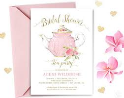 bridal tea party invitation bridal shower tea etsy