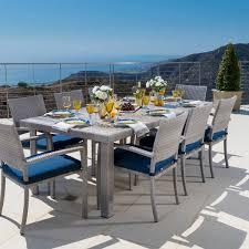 portofino 9 piece dining in laguna blue