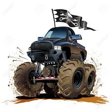 monster truck drag racing vector cartoon monster truck available eps 10 vector format