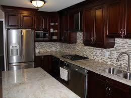 Cherry Kitchen Cabinets Dark Cherry Coloured Custom Kitchen Cabinets With Granite