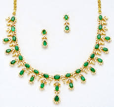 emerald gemstone necklace images Gemstone necklace 8 00 ct 18 85 ct emerald gold office wear JPG&a