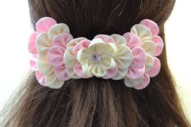 ribbon hair clip how to make easy ribbon petal hair clip with rhinestone cabochon