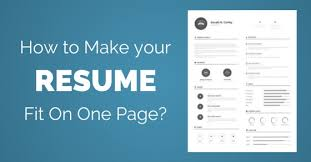 how to make resume one page resume templates