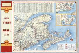 maine map with cities various regions and cities in and around maine including canadian