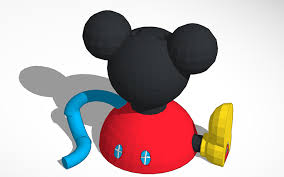 3d design mickey mouse clubhouse ornament tinkercad