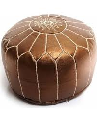 Ottoman Morocco Amazing Deal On Handmade Moroccan Faux Leather Pouf Authentic