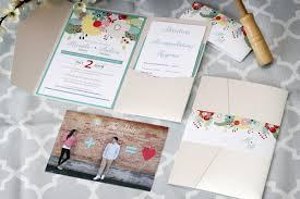 Pocket Fold Invitations Colourful Floral Pocket Fold Wedding Invitations Impressions