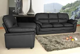New Modern Verona Bonded Leather Sofa Suite In Black Brown Cream - Cream leather sofas