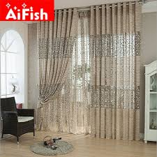 Kitchen Curtain Material by Brown White Breathable Mesh Jacquard Curtain Fabric Tulle