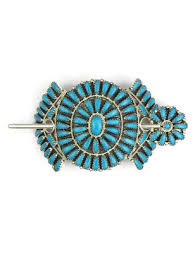 hair clasp turquoise petit point cluster hair clasp by zeita begay