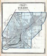 toledo ohio map lucas county and part of wood county 1875 including toledo ohio