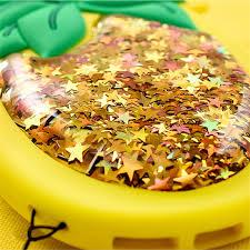 cuisine plus 3d 3d pineapple liquid gold glitter silicone for iphone 6s 6 plus